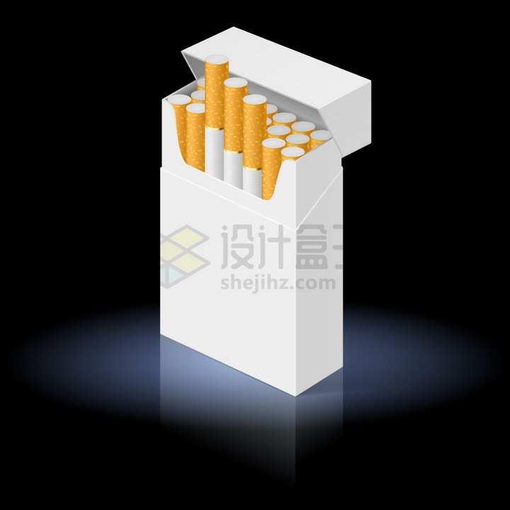一盒打开的香烟盒禁止抽烟png图片免抠矢量素材