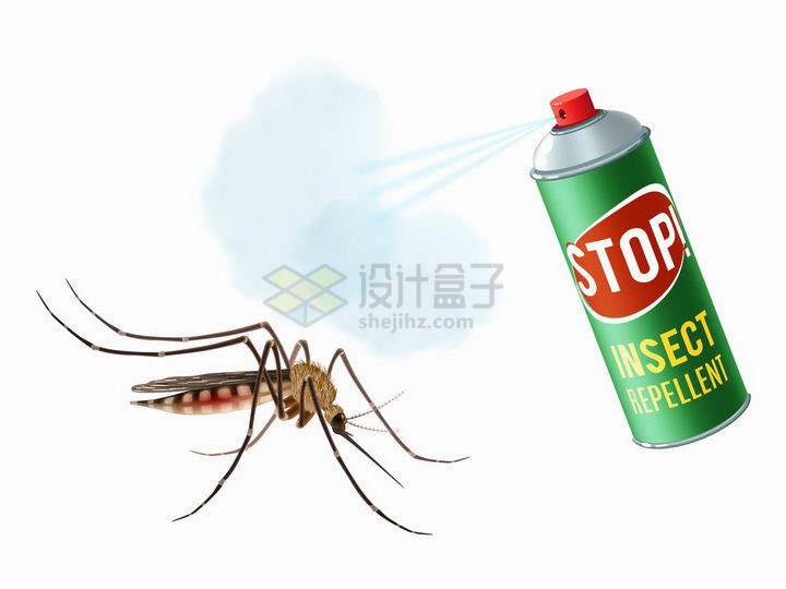 用杀虫剂杀死蚊子png图片免抠矢量素材