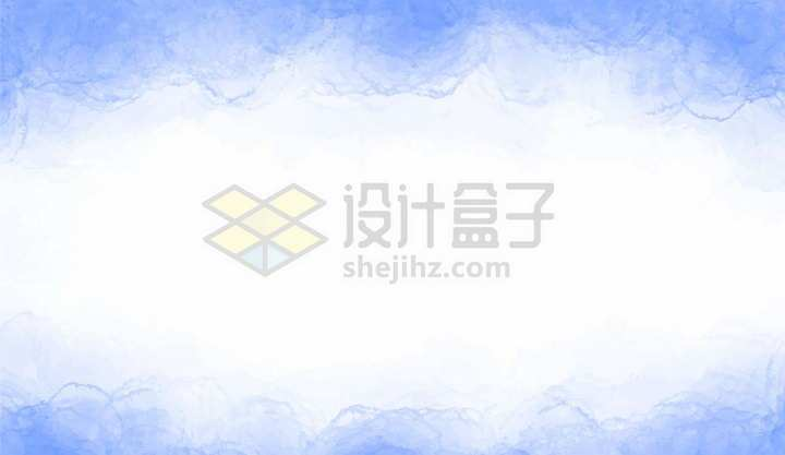 蓝色的水彩背景装饰png图片免抠矢量素材