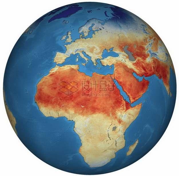 高清地球陆地温度示意图png图片免抠素材