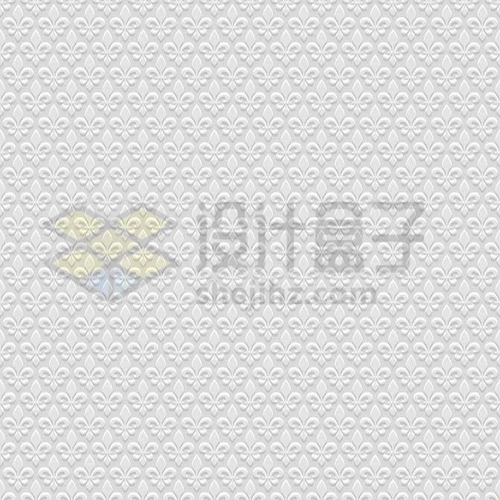 3D传统花朵树叶图案无缝花纹壁纸背景图png图片免抠矢量素材