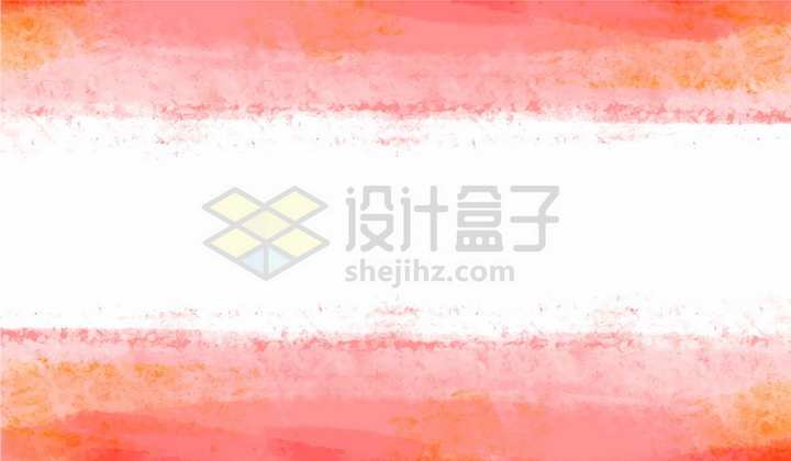 橙色三道杠水彩背景装饰png图片免抠矢量素材