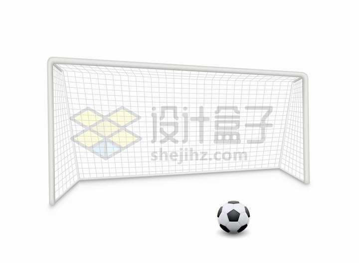 足球门足球网和足球体育设施png图片免抠矢量素材