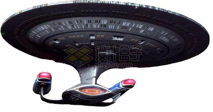 飞行中的星际迷航企业号星舰科幻飞船png图片免抠素材