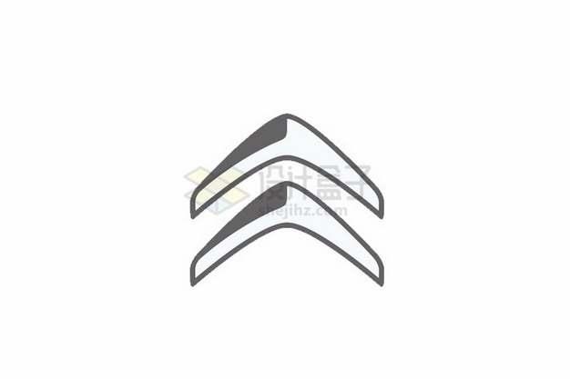扁平化风格新版雪铁龙汽车logo标志徽标png图片素材
