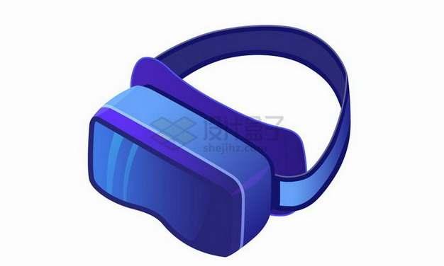 2.5D风格紫色虚拟现实技术打造的VR眼镜png图片免抠矢量素材