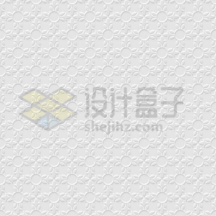 3D花朵图案无缝花纹壁纸背景图png图片免抠矢量素材 背景-第1张