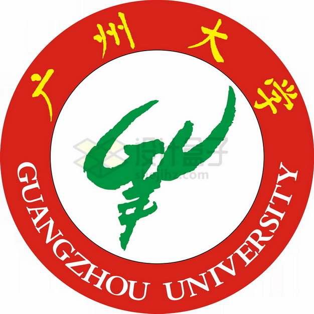 广州大学 logo校徽标志png图片素材