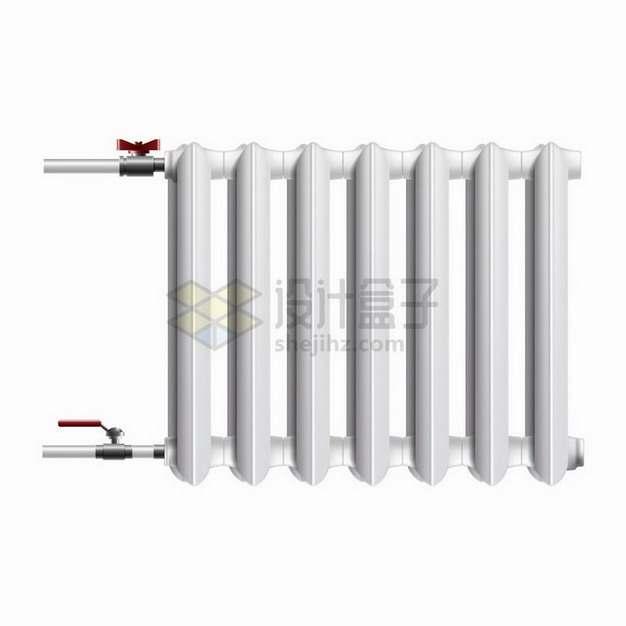 逼真的家用水暖散热器暖气片取暖器png图片免抠矢量素材