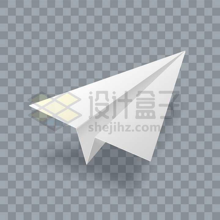 灰白色的3D纸飞机图案png图片免抠矢量素材