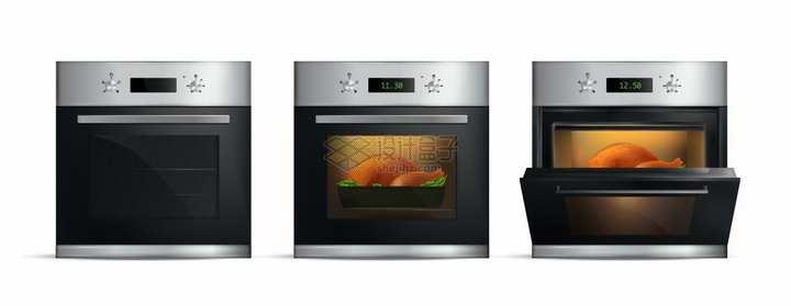 使用中的电烤箱厨房电器png图片素材