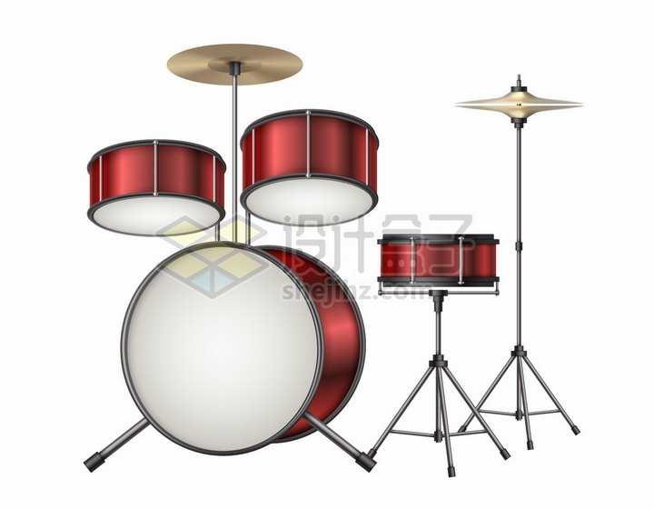 红色架子鼓西洋打击乐器png图片素材