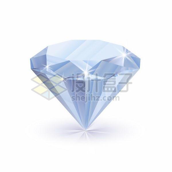 自带光泽的透明色切割钻石宝石png图片免抠矢量素材 生物自然-第1张