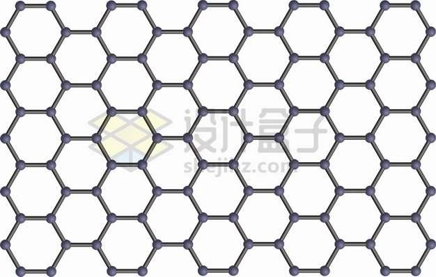 石墨烯薄膜分子结构图png图片素材