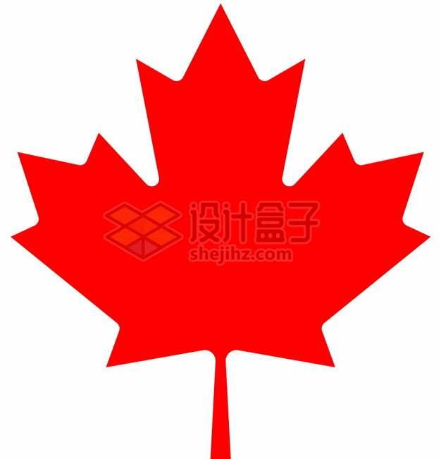 加拿大国旗枫叶旗中的枫叶图案png图片素材