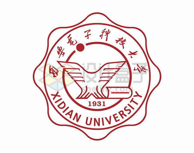西安电子科技大学校徽logo标志png图片素材