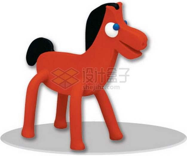 橡皮泥手工制作可爱动物之小马png图片素材
