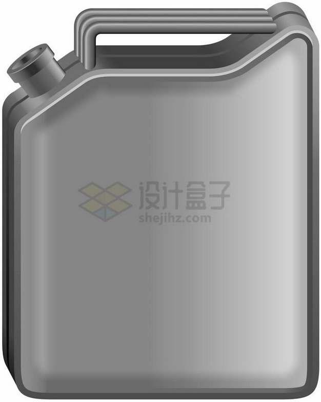 银灰色的汽油桶png图片素材