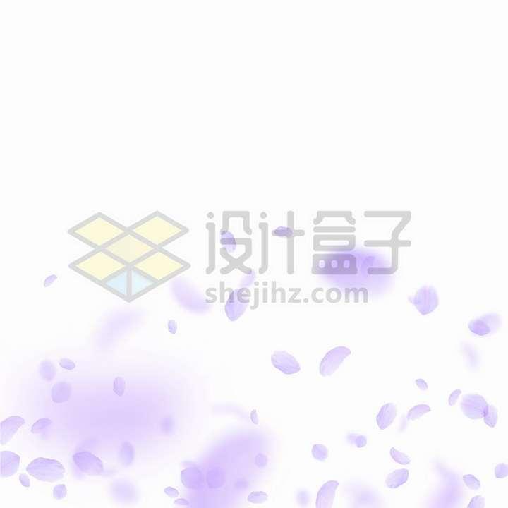 飘落的紫红色花瓣装饰png图片免抠矢量素材