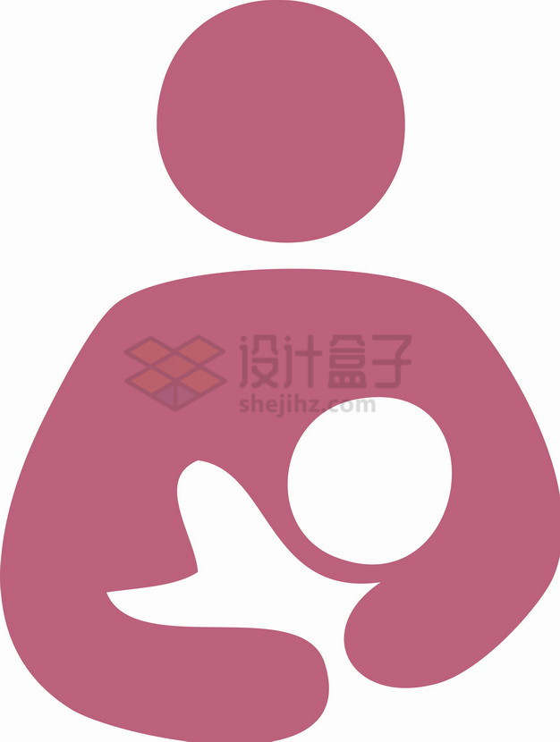红色全国母乳喂养宣传日标志4903721png图片素材