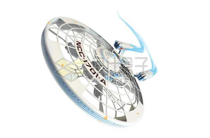 星际迷航企业号星舰曲速引擎超光速飞行png图片免抠素材