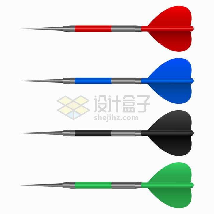 4种颜色的飞镖玩具png图片素材