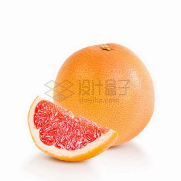 切开的红心柚子黄金蜜柚png图片素材