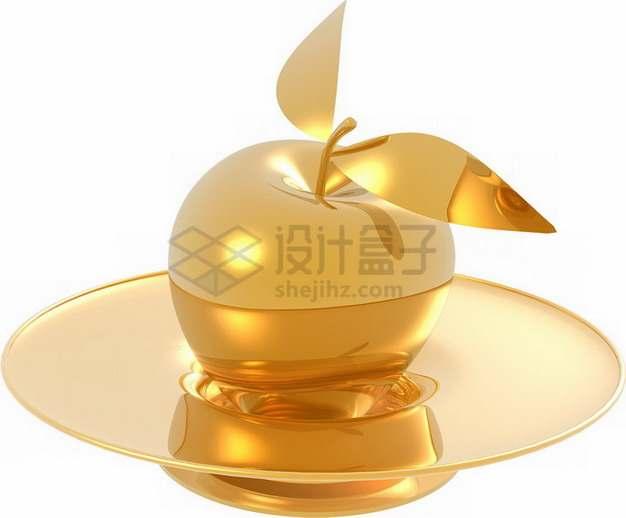 盘子里的金苹果png图片素材