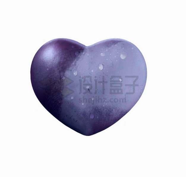 心形紫色葡萄png图片素材