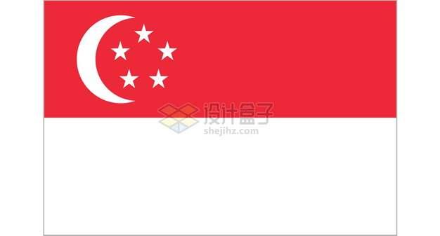 标准版新加坡国旗图案png图片素材