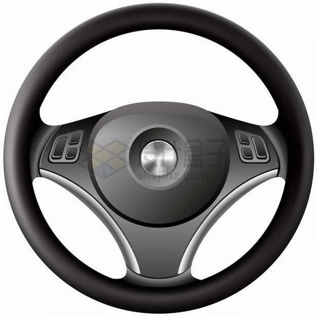 黑色的汽车方向盘png图片素材