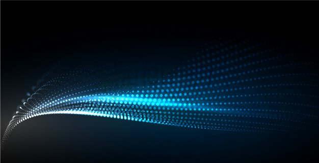 白色蓝色渐变色粒子量子波动抽象黑色背景图1704295png图片素材