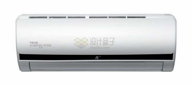 银白色的变频空调png图片素材