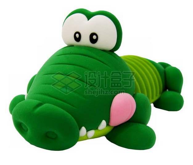 橡皮泥手工制作可爱动物之鳄鱼png图片素材