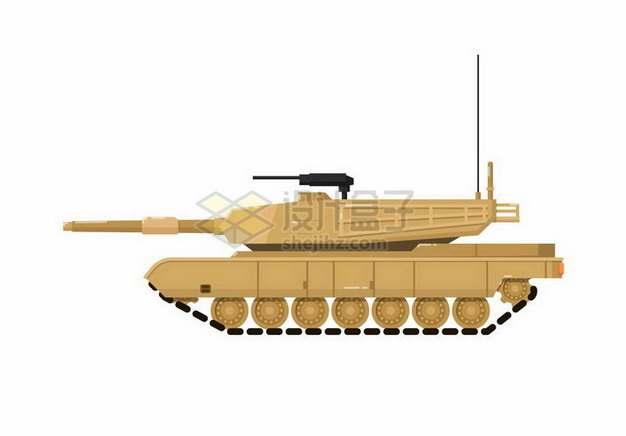 M1A2主战坦克侧视图png图片免抠矢量素材