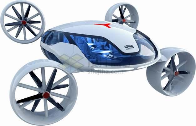 未来式科幻风格飞行器飞行汽车出租车png图片素材