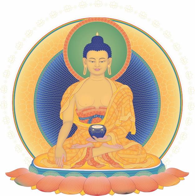 佛教释迦摩尼佛祖画像png图片素材 人物素材-第1张