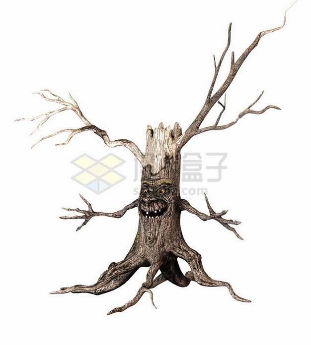 大树枯树树根怪物png免抠图片素材