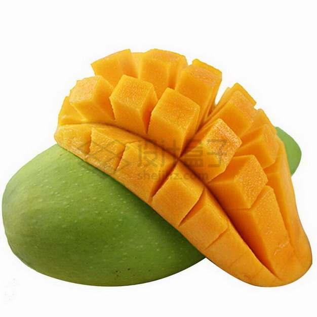 切开的青芒露出黄色的芒果肉凯特芒png图片素材