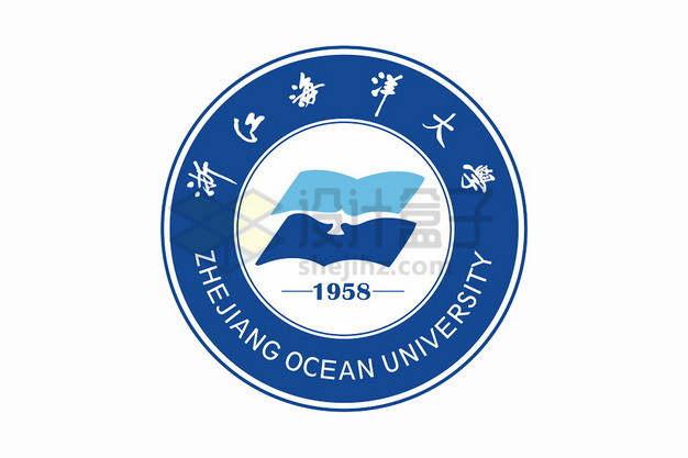 浙江海洋大学校徽logo标志png图片素材