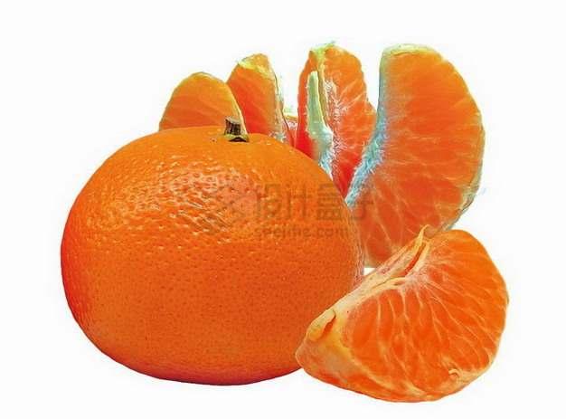 剥开的橘子蜜桔贡桔png图片素材