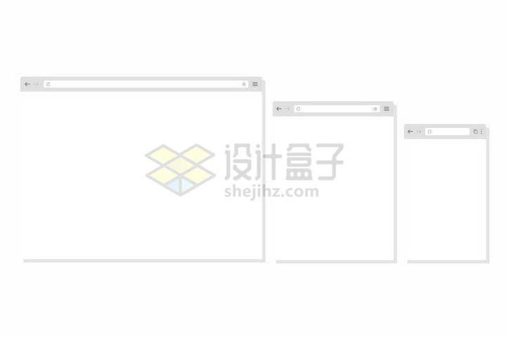 苹果电脑中的Safari浏览器的三个不同大小png图片免抠矢量素材