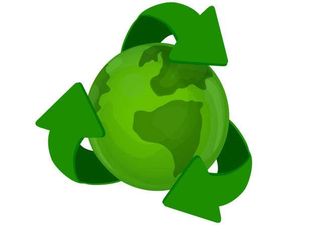 绿色循环箭头和地球世界环境日png图片素材