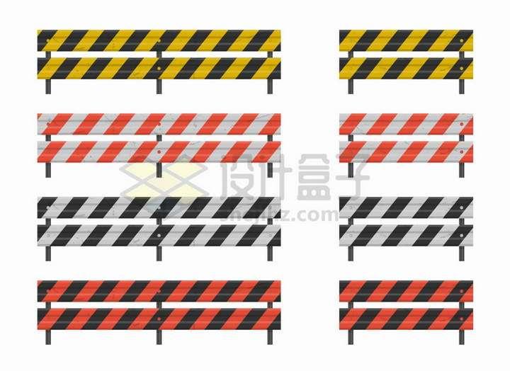 高速公路钢护栏4款png图片免抠矢量素材