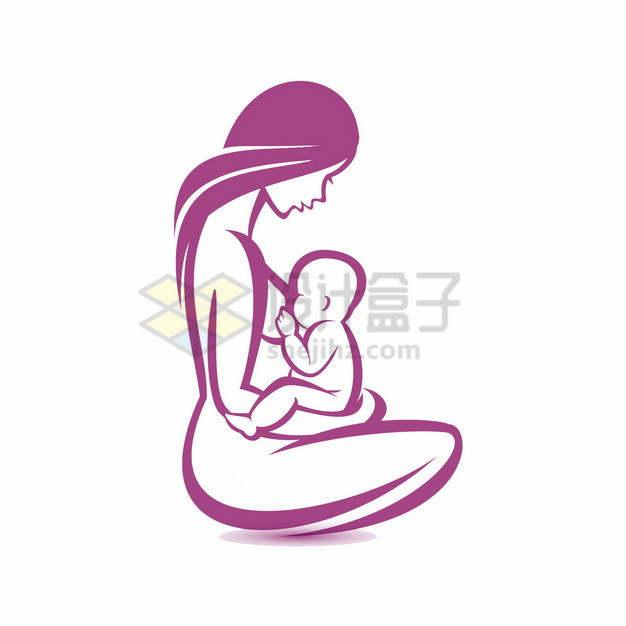 红色线条全国母乳喂养宣传日486326png图片素材