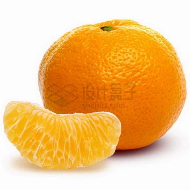 剥开的柑橘png图片素材