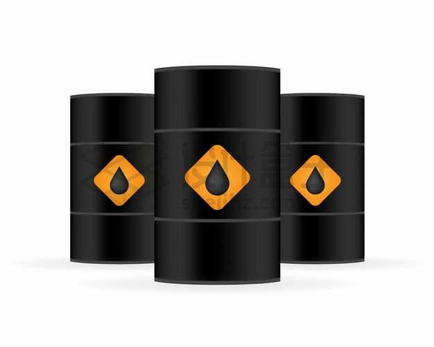 黑色的石油油桶png图片素材