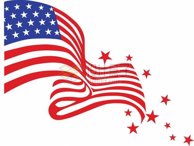 抽象星条旗美国国旗装饰图案png图片素材