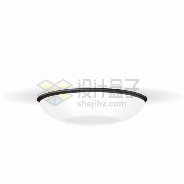 一盏白色吸顶灯吊灯电灯png图片素材