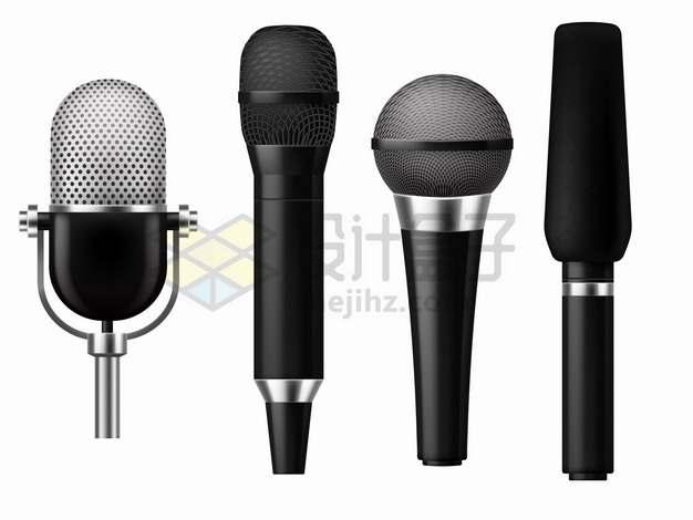 4款逼真的话筒麦克风录音设备832763png图片素材